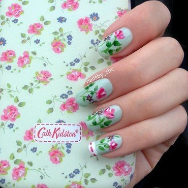 Spring Ladies nail art by Zeynep Celikel