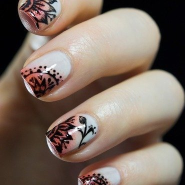 Asian Tribal nail art by  Petra  - Blingfinger