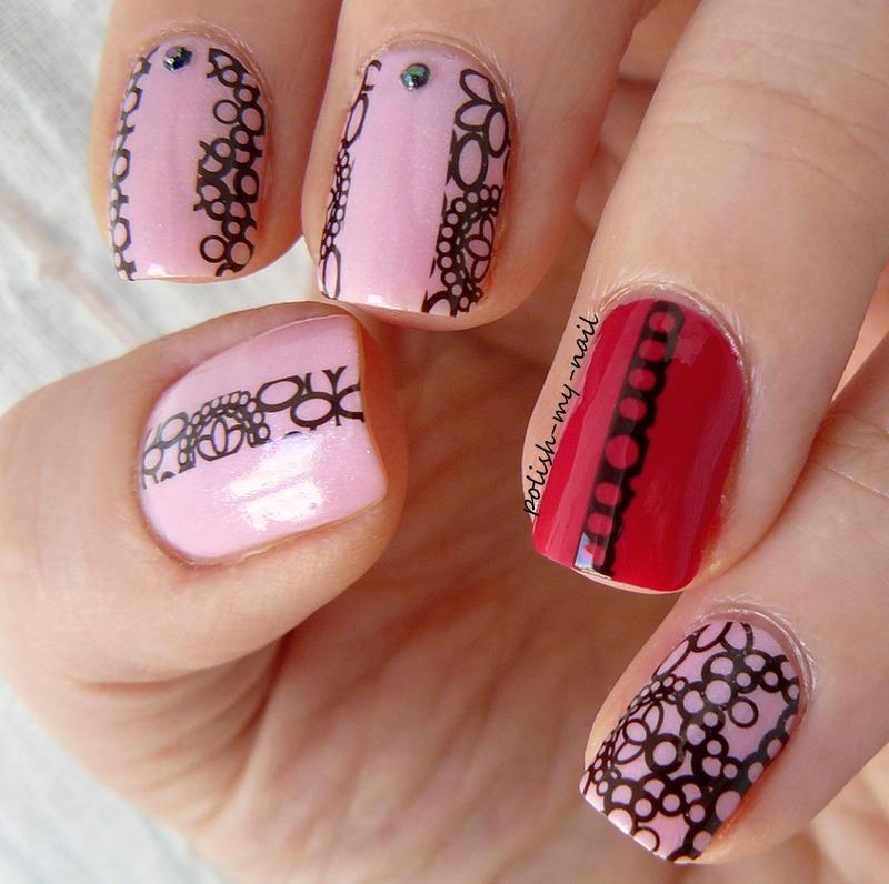 Lace mix nail art by Ewlyn