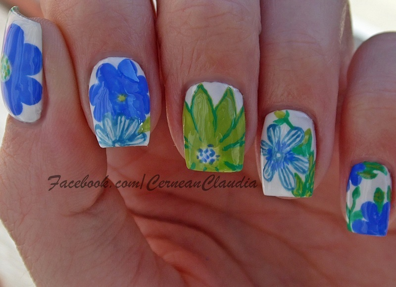 Spring Nails nail art by Claudia