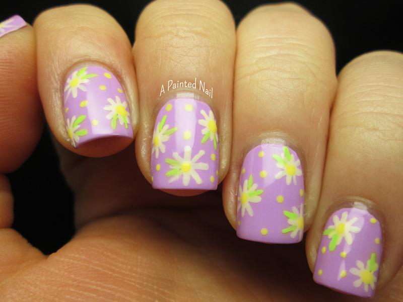 Spring Daisies nail art by Bridget Reynolds