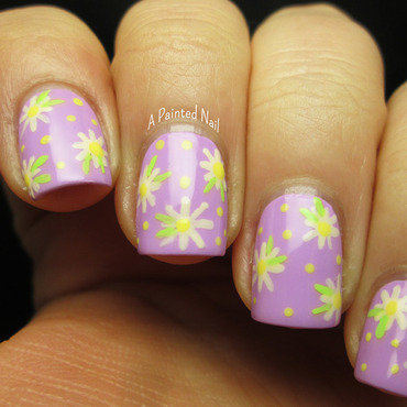Spring Daisies nail art by Bridget Reynolds
