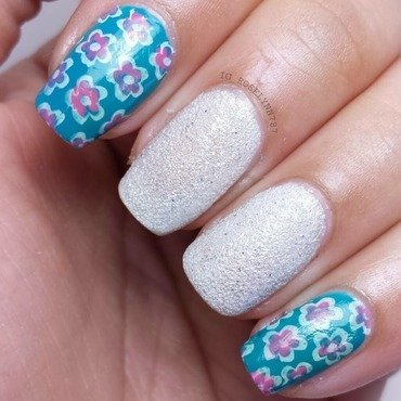 Flower Stamping nail art by Rose Mercedes