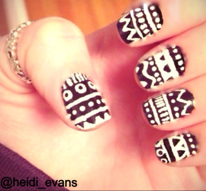 Tribal nail art by Heidi  Evans