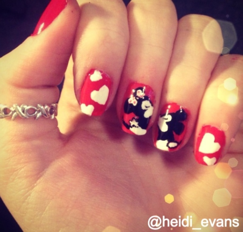 Minnie And Mickey Mouse Nail Art By Heidi Evans Nailpolis Museum