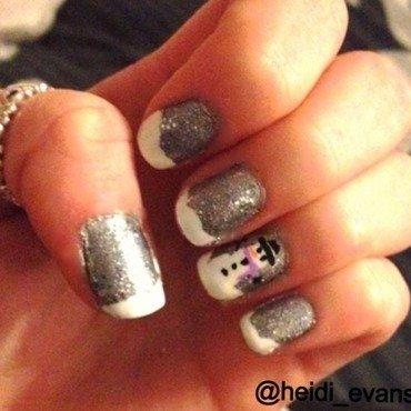 Winter Wonderland nail art by Heidi  Evans