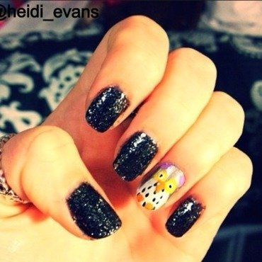 Owl Always Love You nail art by Heidi  Evans