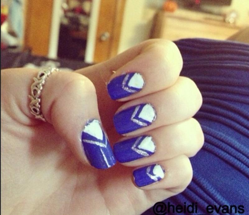 Little Blue Dress nail art by Heidi  Evans