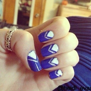 Little Blue Dress nail art by Heidi  Evans