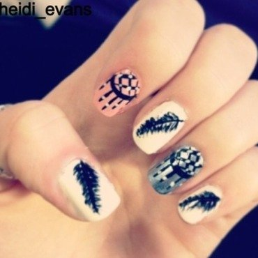 Chase Your Dreams nail art by Heidi  Evans