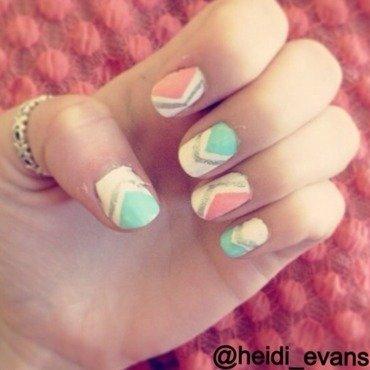 Spring Pastels nail art by Heidi  Evans
