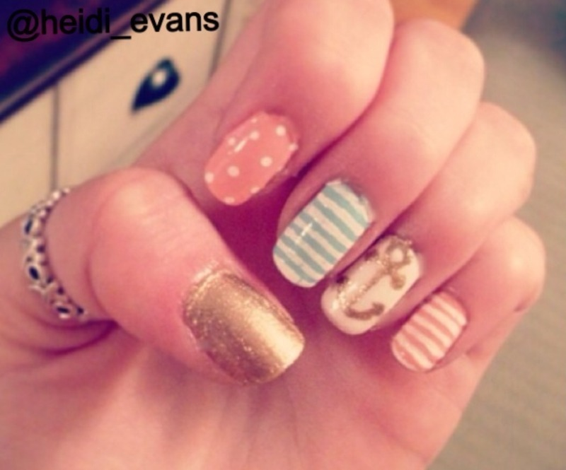Aye Aye, Captain nail art by Heidi  Evans