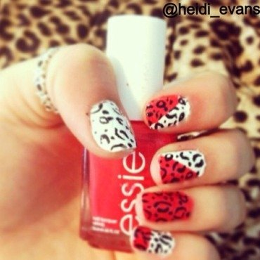 Cheetah nail art by Heidi  Evans