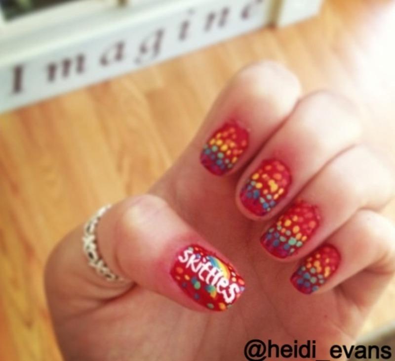 Taste the Rainbow nail art by Heidi  Evans