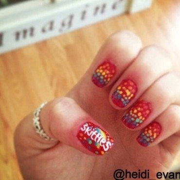 Taste the Rainbow nail art by Heidi  Evans