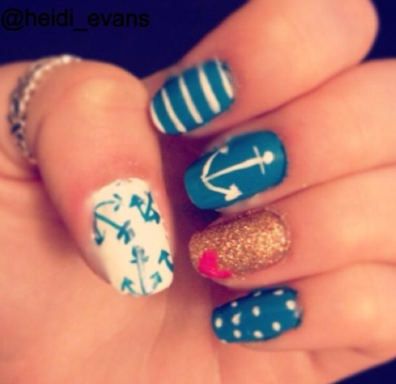 Cape Cod Livin' nail art by Heidi  Evans