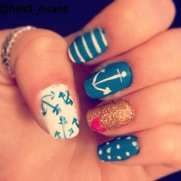 Cape Cod Livin' nail art by Heidi  Evans
