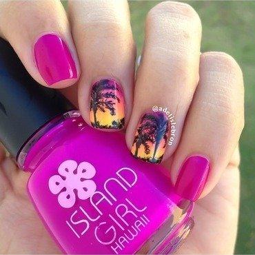 Island girl alhoa dream swatches and nail art nailpolis museum hawaiian sunset nail art by adelis lebron prinsesfo Gallery