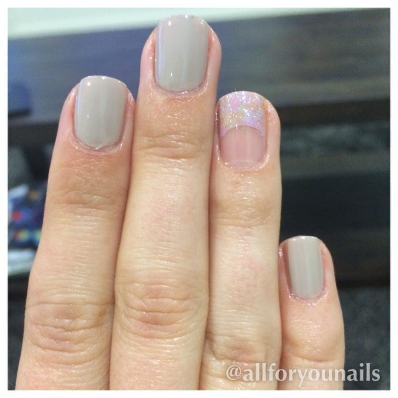 Half moon accent nail nail art by Nikita