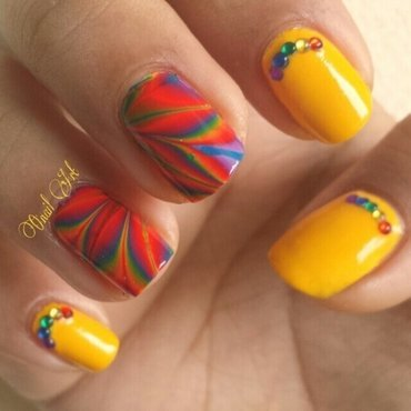 Rainbow Nails nail art by OnailArt