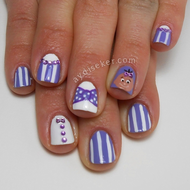 Inspired By Baby Shower Cake Nail Art By Aydi Seker Nailpolis