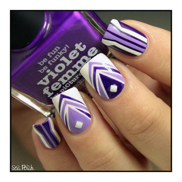 Picture Polish Striping Tape Mani nail art by Sois Polish