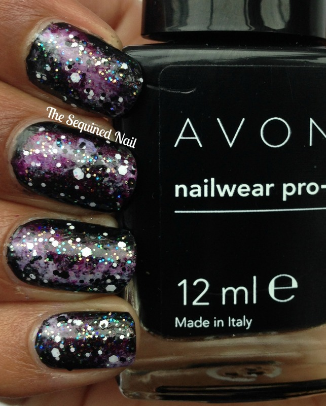 Galaxy Nails nail art by TheSequinedNail