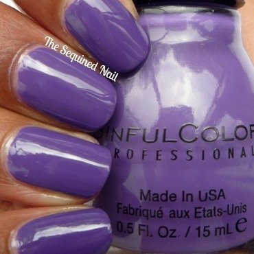 Sinful Colors Amethyst Swatch by TheSequinedNail