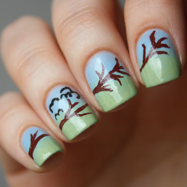 Spring is coming! nail art by Magda