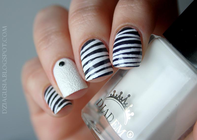 Stripes. nail art by Magda
