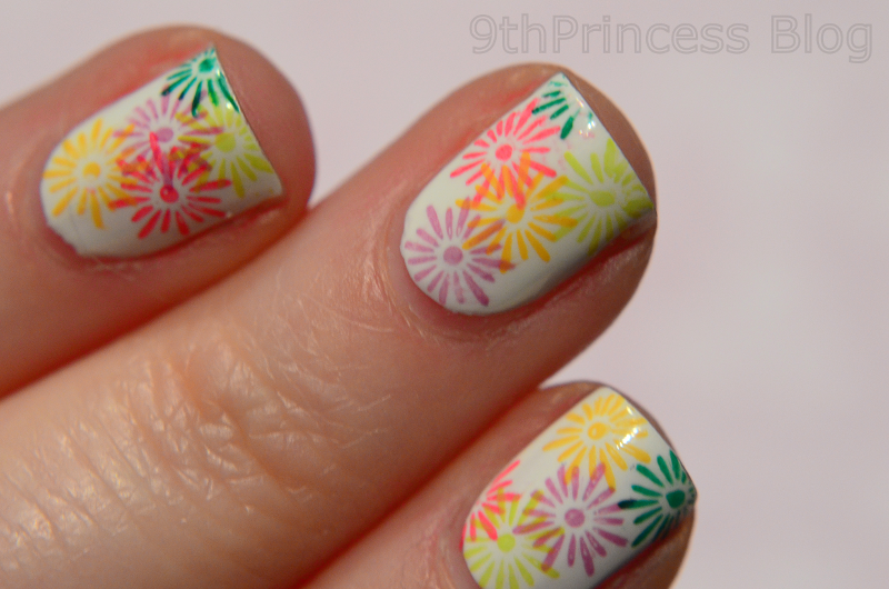 Spring Flowers nail art by 9th Princess