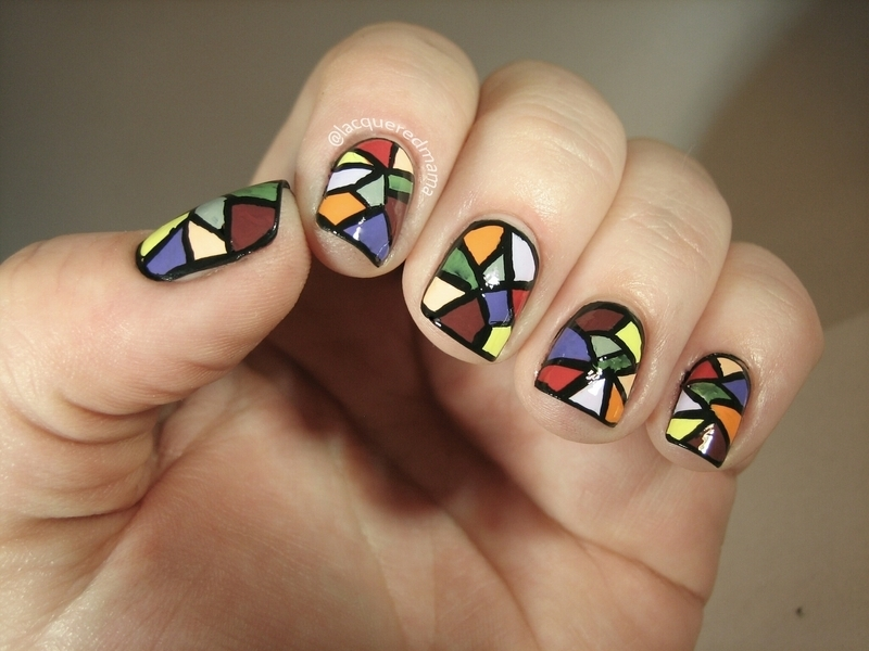 Stained glass nail art by Jennifer Collins