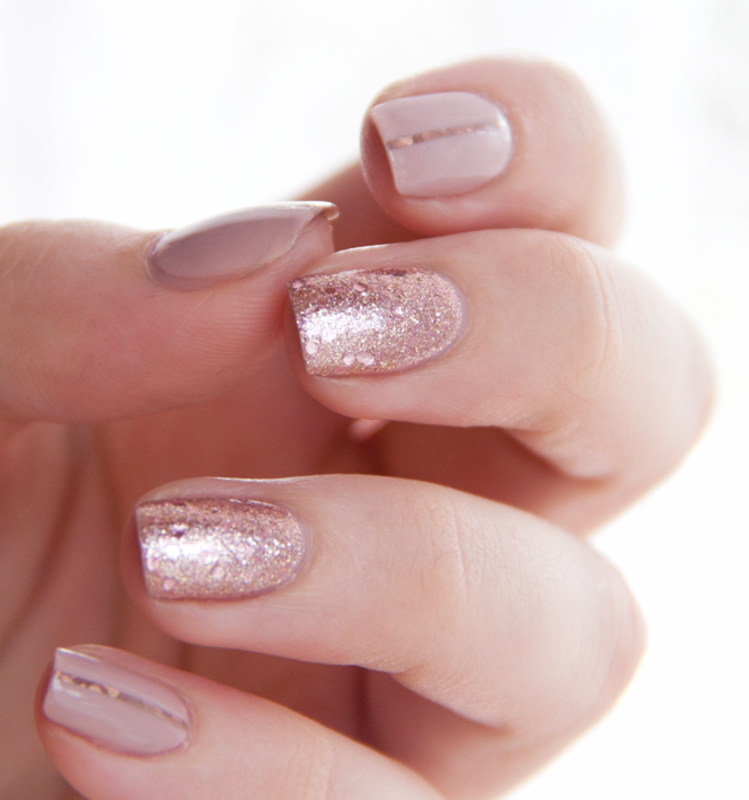 Nude Glitters nail art by Chasing Shadows