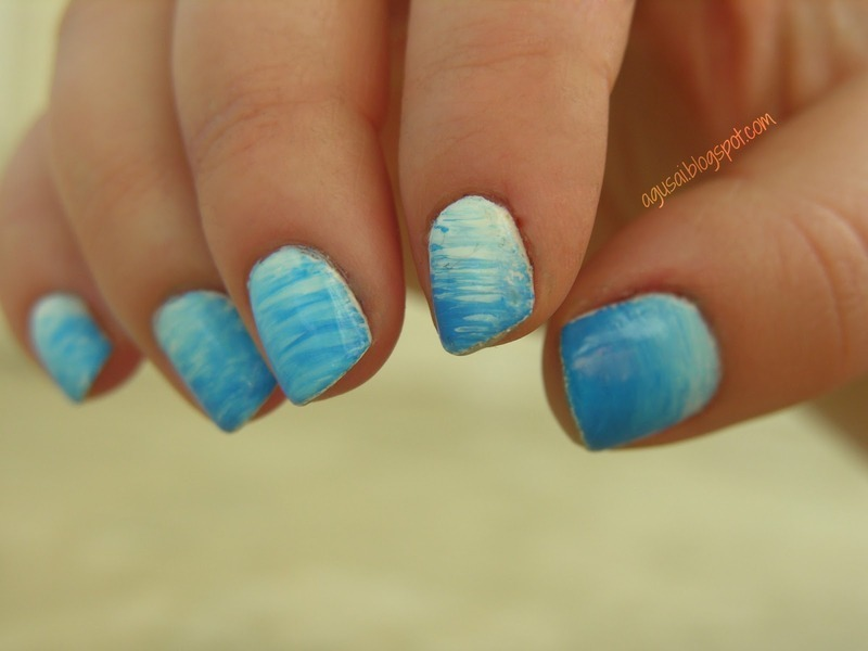 Sky is the limit! nail art by Agni