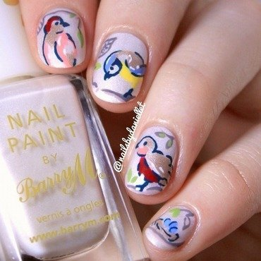 Spring Birds...aka 'My Little Tweeters'  nail art by Danielle