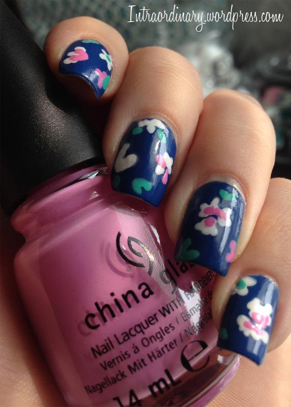 Floral Print Nails nail art by Katie