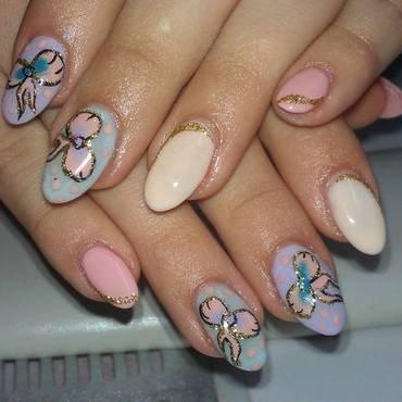 pastel fashion nail art by Marija  Janeva