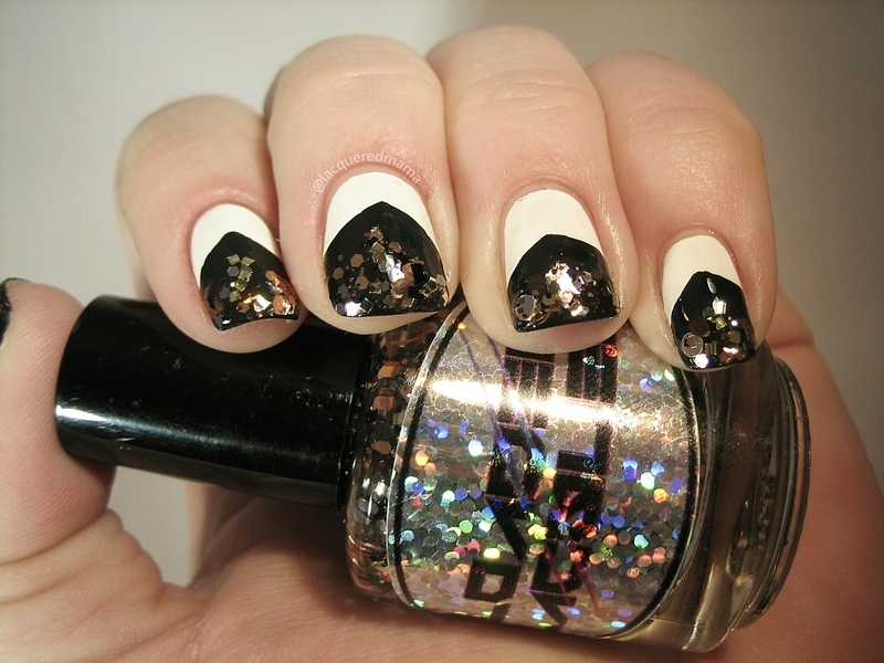 French tip with a twist nail art by Jennifer Collins