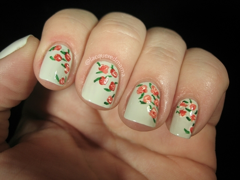 Roses nail art by Jennifer Collins