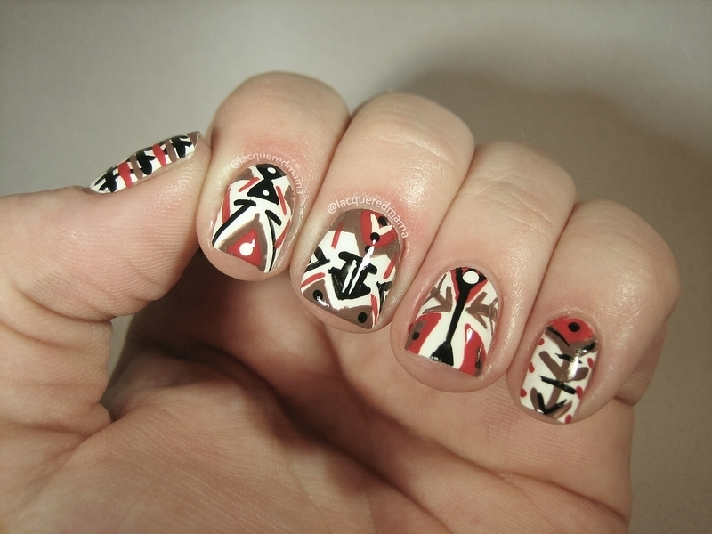 Tribal nail art by Jennifer Collins