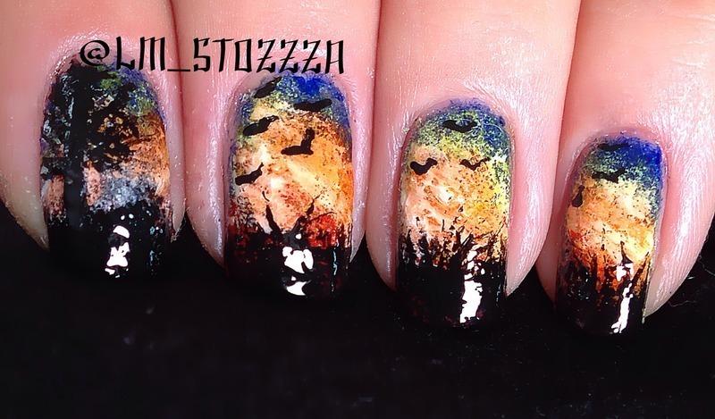 Awakening nail art by Louise