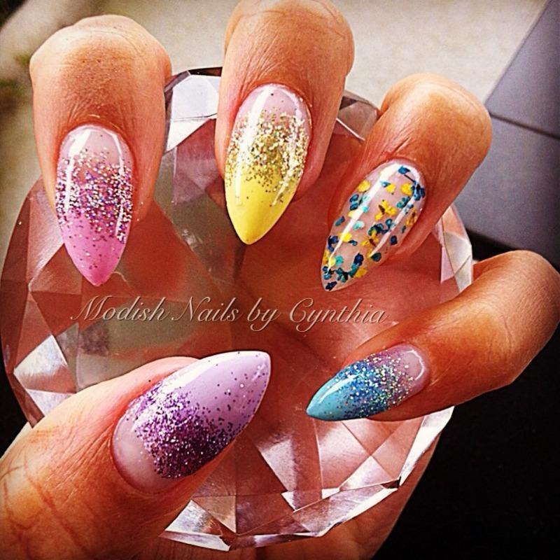Spring has Sprung! nail art by Cynthia