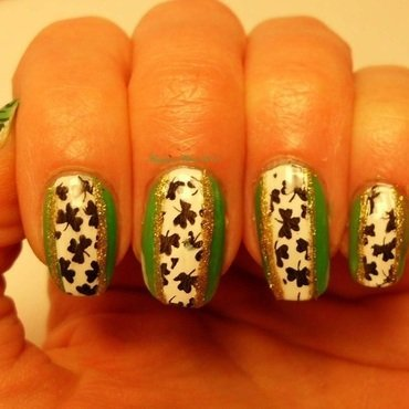 St. Patrick's Day nail art by Angelique Adams