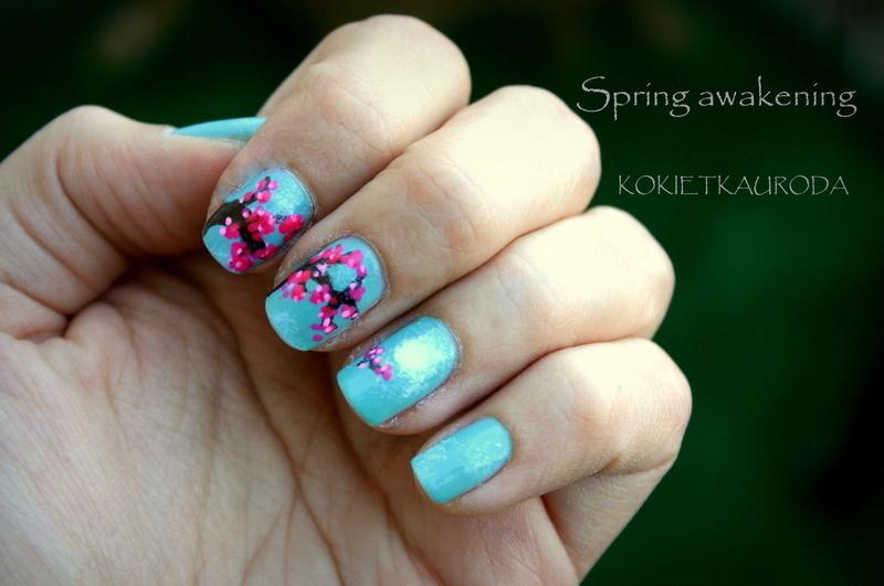 CHERRY BLOSSOM nail art by Koralina