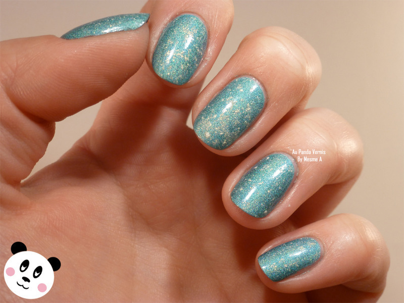 Star dust nail art by Amandine