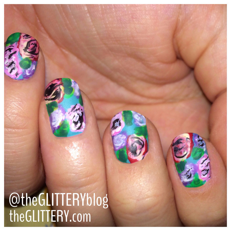 matte about florals!  nail art by Ari  Fund