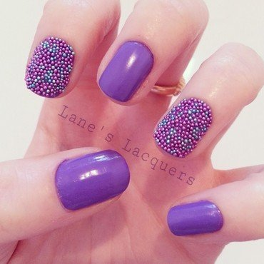 Got polish challenge purple caviar beads manicure thumb370f