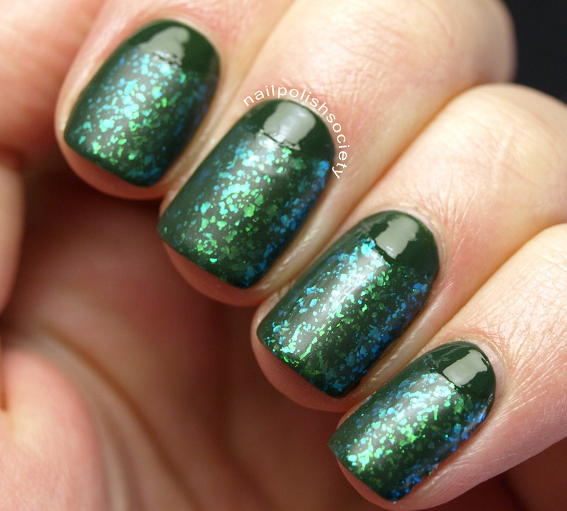 St. Patrick's Day Half Moons With Zoya Hunter and Opal nail art by Emiline Harris
