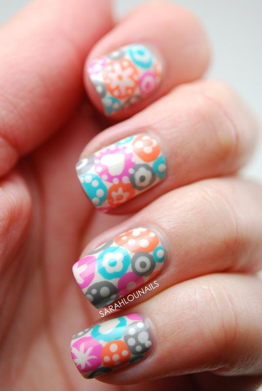 Pastel Spring Pattern nail art by Sarah S