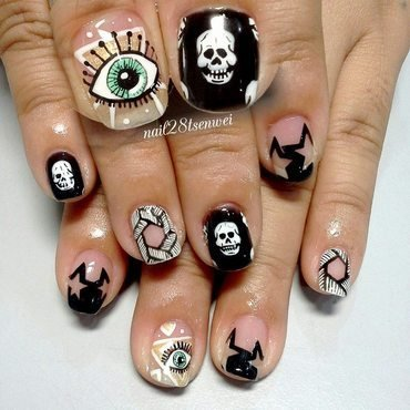 eye nail art by Weiwei
